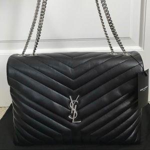 Saint Laurent LouLou Plush Quilted Shoulder Bag